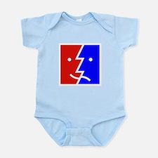 comedy tragedy square 01 Infant Bodysuit