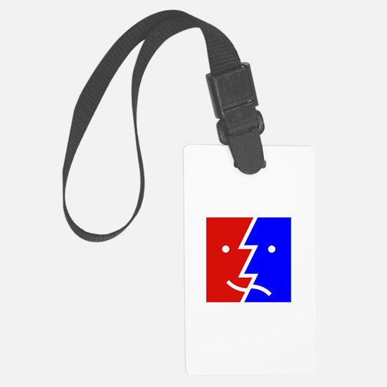 comedy tragedy square 01 Luggage Tag