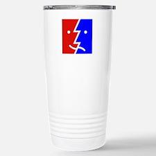 comedy tragedy square 0 Travel Mug