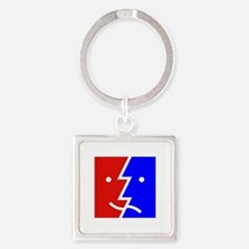 comedy tragedy square 01 Square Keychain