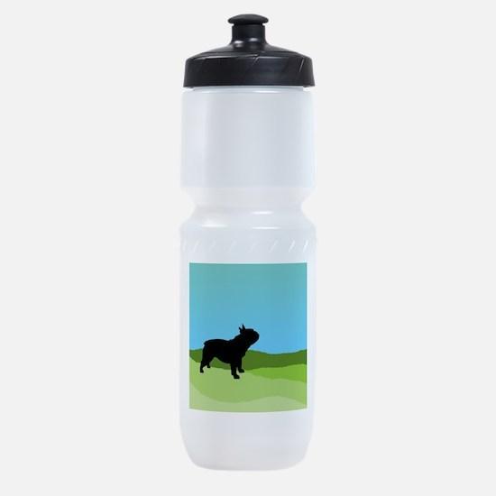Blue Sky French Bulldog Sports Bottle