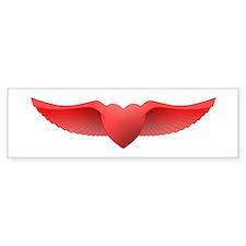 follow your heart red 05 Bumper Sticker