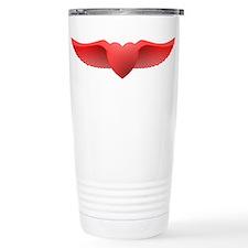 follow your heart red 0 Travel Mug