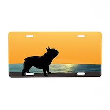 French Bulldog Surfside Sunset Aluminum License Pl