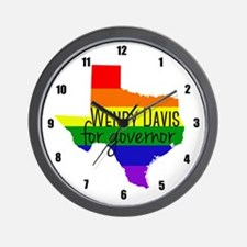 Wendy Davis Rainbow Wall Clock