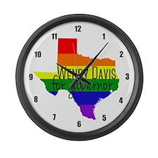 Wendy Davis Rainbow Large Wall Clock
