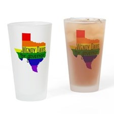 Wendy Davis Rainbow Drinking Glass