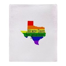 Wendy Davis Rainbow Throw Blanket