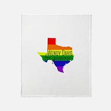 Wendy Davis Rainbow Throw Blanket