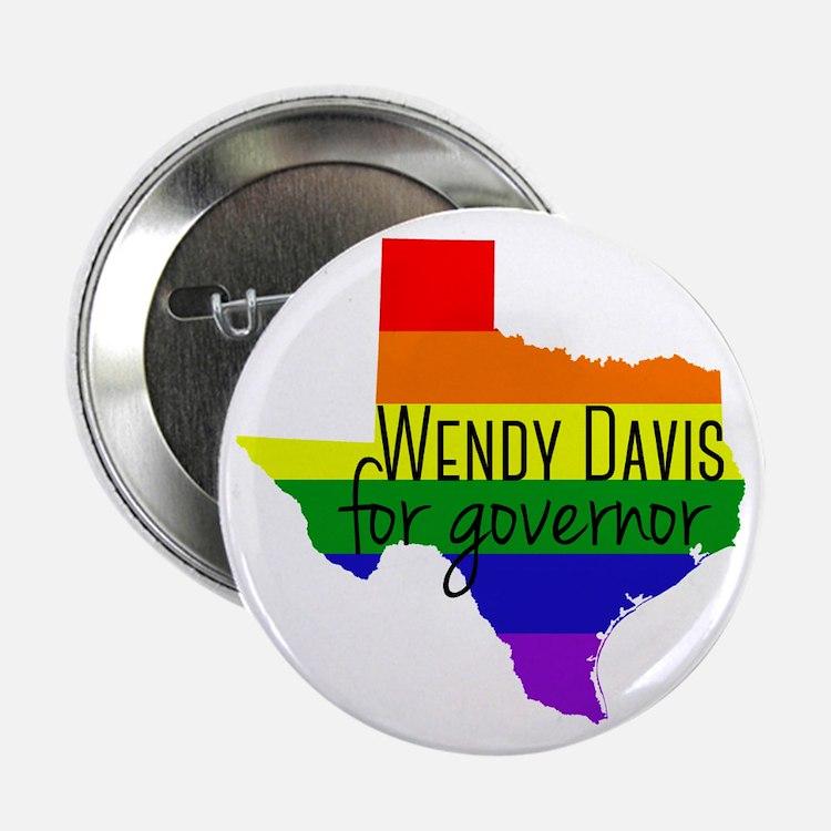 """Wendy Davis Rainbow 2.25"""" Button"""