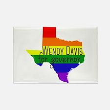 Wendy Davis Rainbow Rectangle Magnet