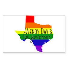 Wendy Davis Rainbow Decal