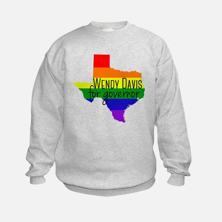 Wendy Davis Rainbow Sweatshirt