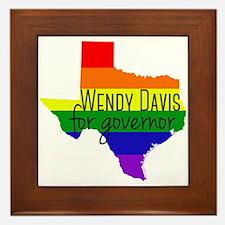 Wendy Davis Rainbow Framed Tile
