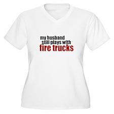 my husband still plays Plus Size T-Shirt