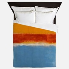 ROTHKO IN BLUE _ORANGE RED Queen Duvet