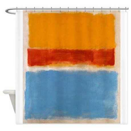 ROTHKO IN BLUE ORANGE RED Shower Curtain By ThingsCollectable