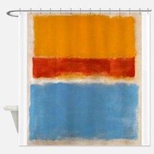 ROTHKO IN BLUE _ORANGE RED Shower Curtain