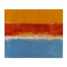 ROTHKO IN BLUE _ORANGE RED Throw Blanket