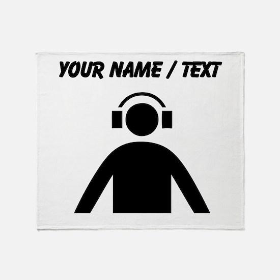 Custom Music DJ Throw Blanket
