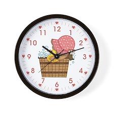 Prairie Girl Bath Wall Clock