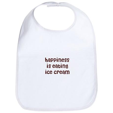 happiness is eating ice cream Bib