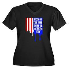 Flag Drip Plus Size T-Shirt