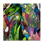 Mystic Dragon in Stained Glass Tile Coaster