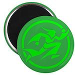 'Running Wizard' Magnet (green on green)