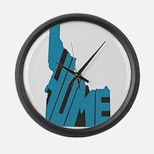 Idaho Home Large Wall Clock
