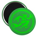 'Running Wizard' Magnet (100 pk) (green on green)