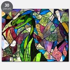 Mystic Dragon in Stained Glass Puzzle