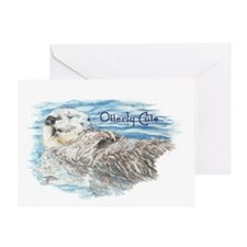 Otterly Cute Quote Humorous Otter Greeting Cards