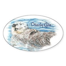 Otterly Cute quote Humorous Cute Otter Animal Stic