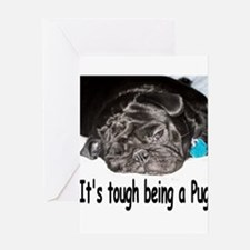 Cute Pug dog Greeting Card