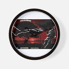CLOJudah Samurai Wall Clock