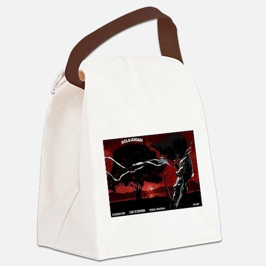 CLOJudah Samurai Canvas Lunch Bag