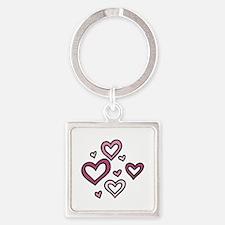 Valentines Hearts Keychains