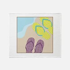 Sandles In Sand Throw Blanket
