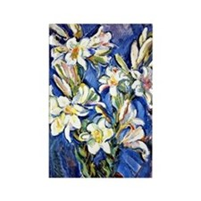 Lily - Nicolas Tarhoff painting Rectangle Magnet