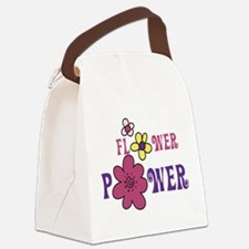 Flower Power Canvas Lunch Bag