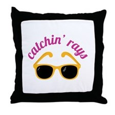 Catchin' Rays Throw Pillow