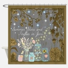 Stars And Fireflies Shower Curtain