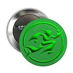 'Running Wizard' Button (100 pk) (3D green on gree