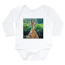 GIRAFFE LOVE Long Sleeve Infant Bodysuit