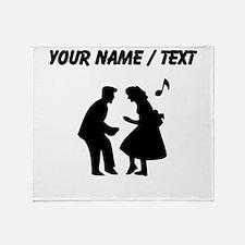 Custom Couple Dancing Throw Blanket