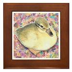 Snowy Mallard Duckling Framed Tile