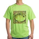 Snowy Mallard Duckling Green T-Shirt