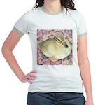 Snowy Mallard Duckling Jr. Ringer T-Shirt