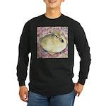 Snowy Mallard Duckling Long Sleeve Dark T-Shirt